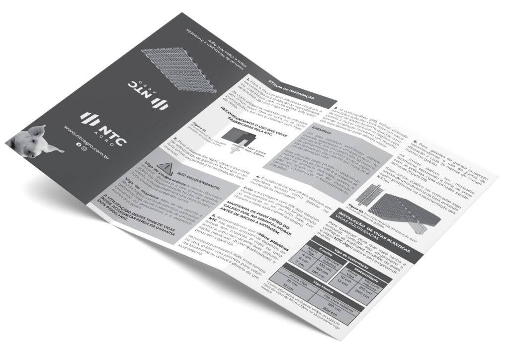 Manual de montagem de pisos e vigas para suinos
